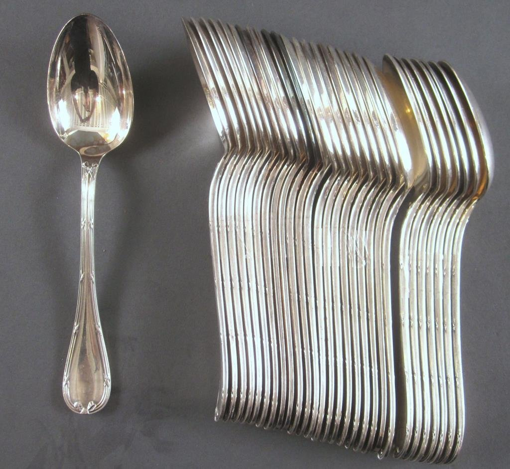106 Piece Christofle Silver Plated Flatware Set - 8