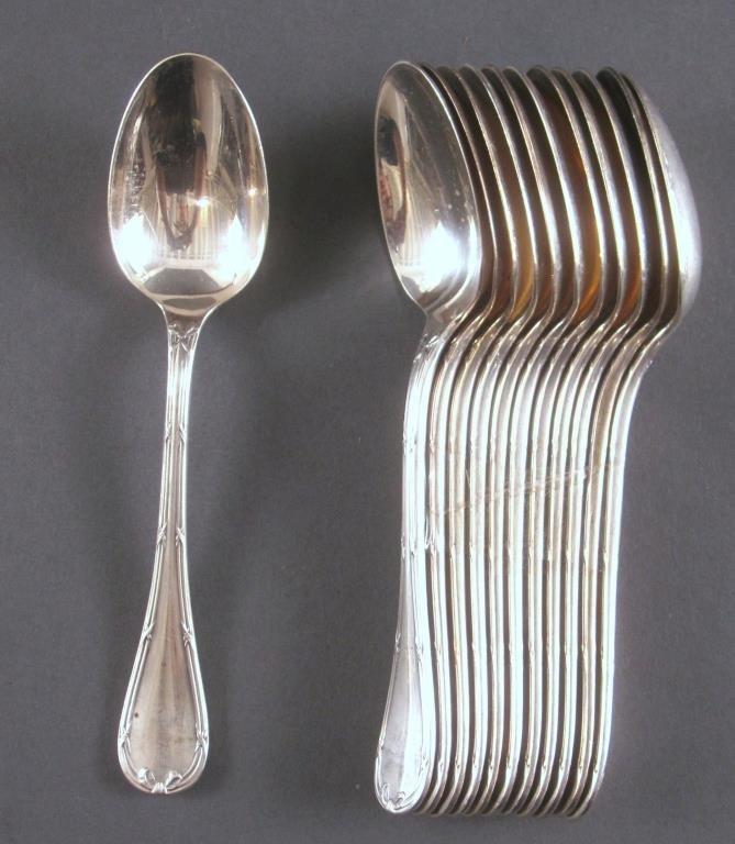 106 Piece Christofle Silver Plated Flatware Set - 9
