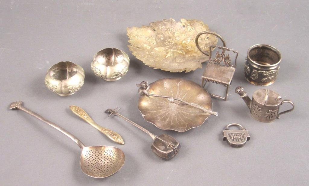 Group of Chinese Silver and Other Metal Articles