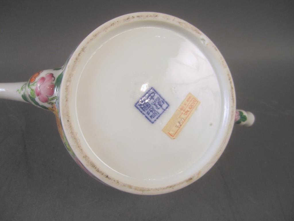 Chinese Enameled Porcelain Tea Pot - 6