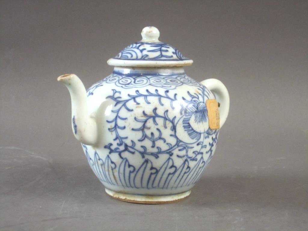 Old Chinese Blue and White Tea Pot