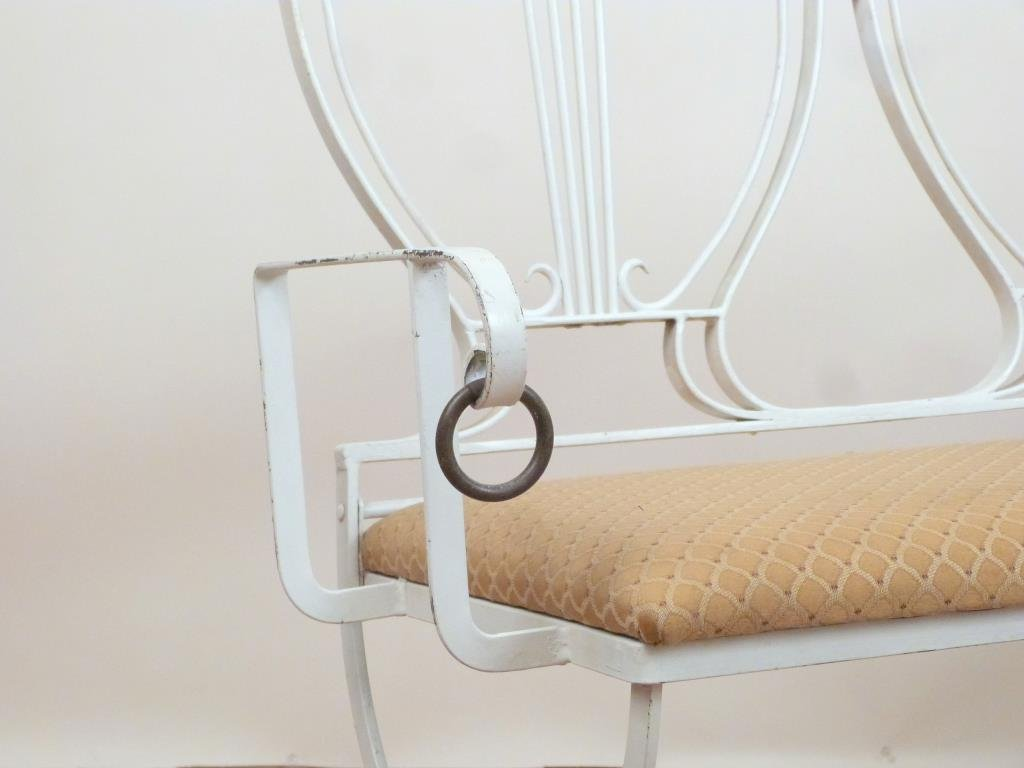French Deco Style Iron Settee and Chair Set - 6