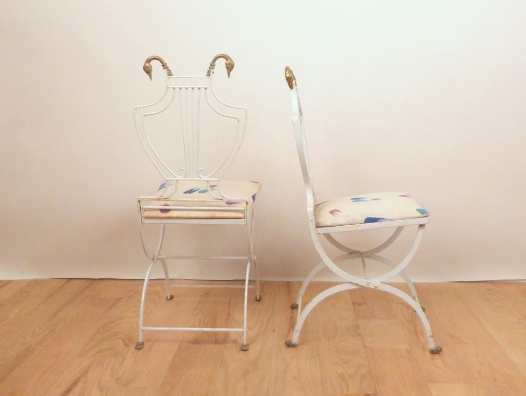 French Deco Style Iron Settee and Chair Set - 8
