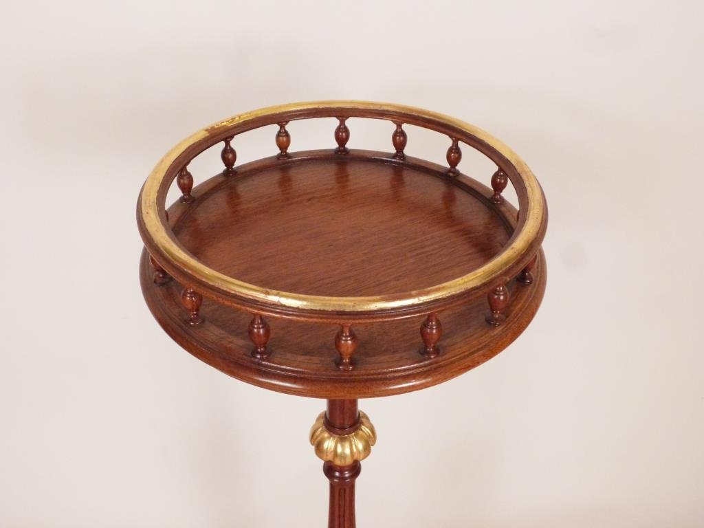 Regency Style Partial Gilt Mahogany Urn Stand - 2