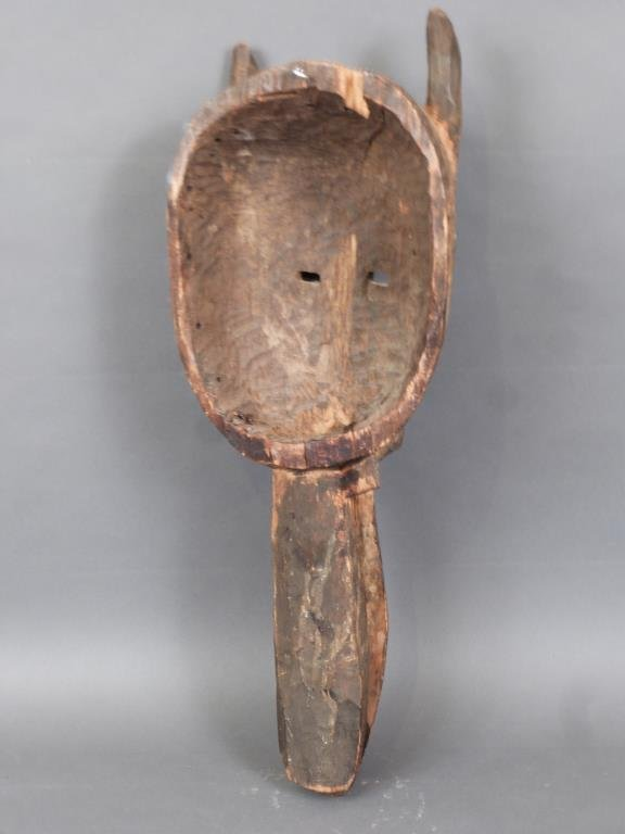 African / Ethnographic Carved Wood Mask - 3
