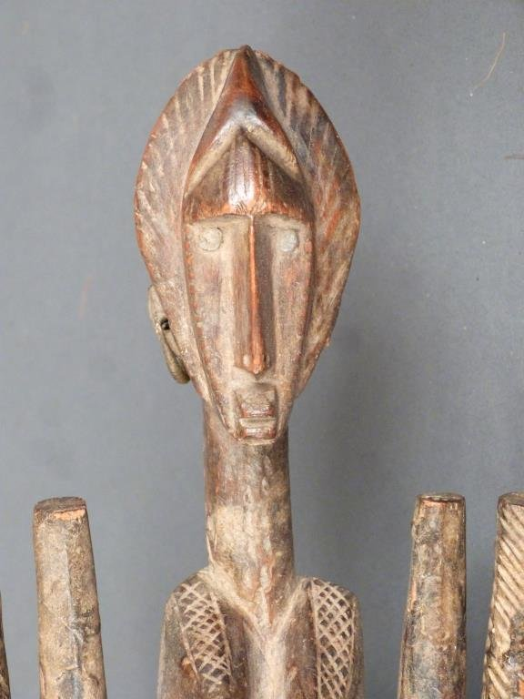 African / Ethnographic Carved Wood Mask - 4