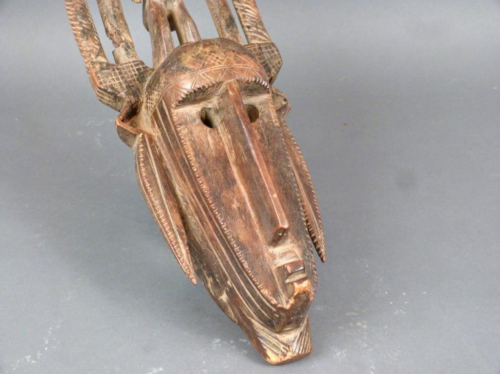 African / Ethnographic Carved Wood Mask - 6