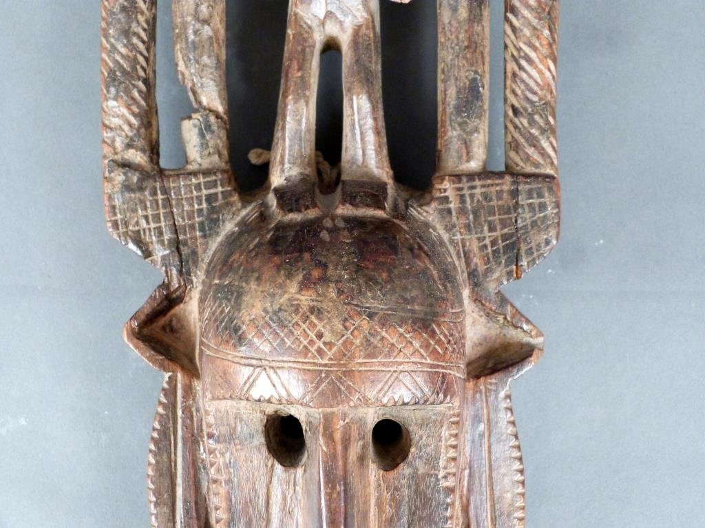 African / Ethnographic Carved Wood Mask - 8