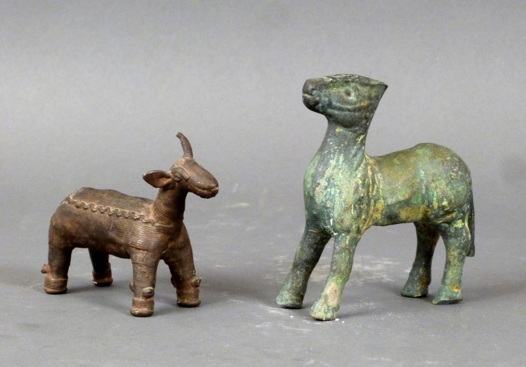 2 Far Eastern Bronze Animals