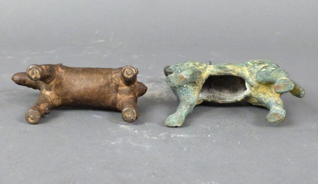 2 Far Eastern Bronze Animals - 3