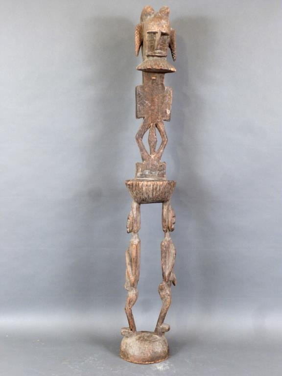 Tall Carved African Totem