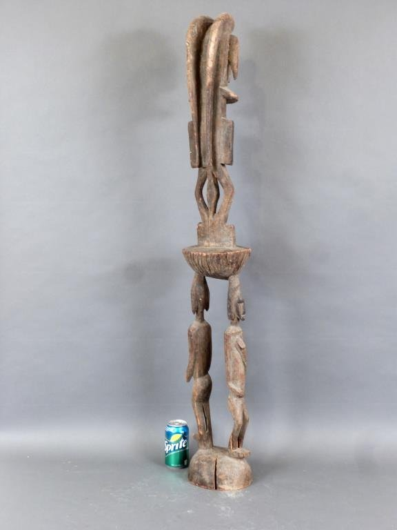 Tall Carved African Totem - 2