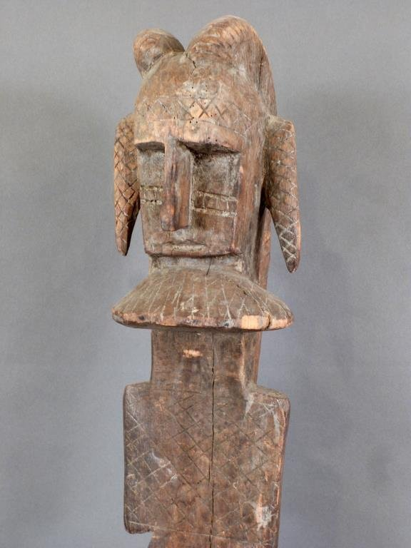 Tall Carved African Totem - 3