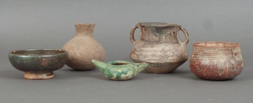 Five Pottery Articles