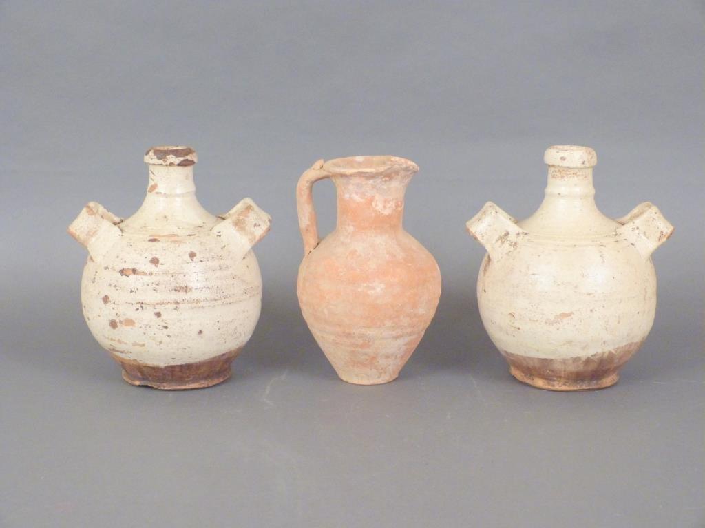 3 Rustic Terra Cotta Vessels