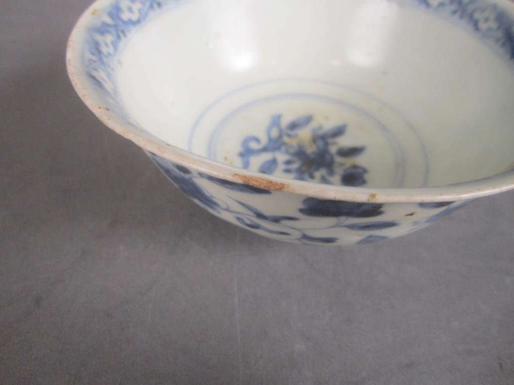Antique Chinese Blue and White Bowl - 3