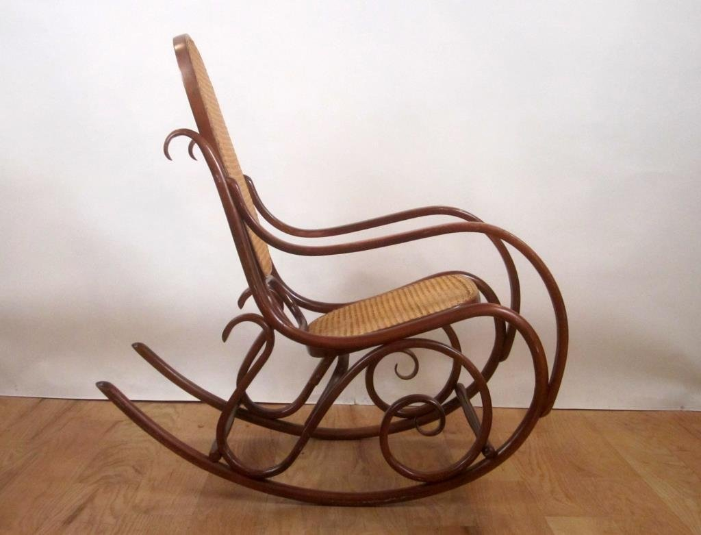 Caned Bentwood Rocking Chair - 2