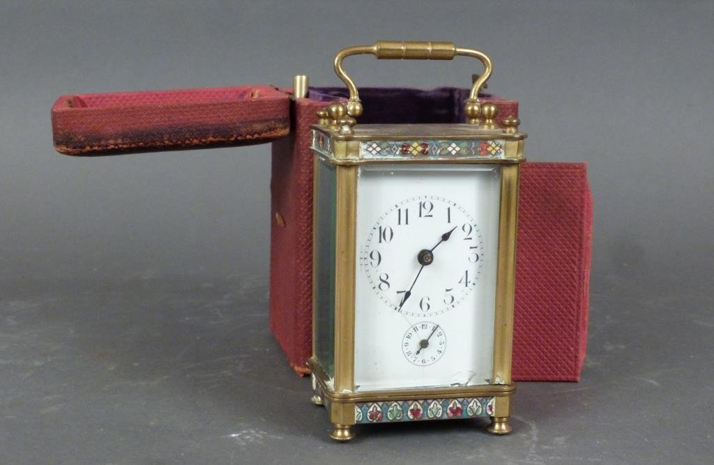 French Champ Levy Small Carriage Clock