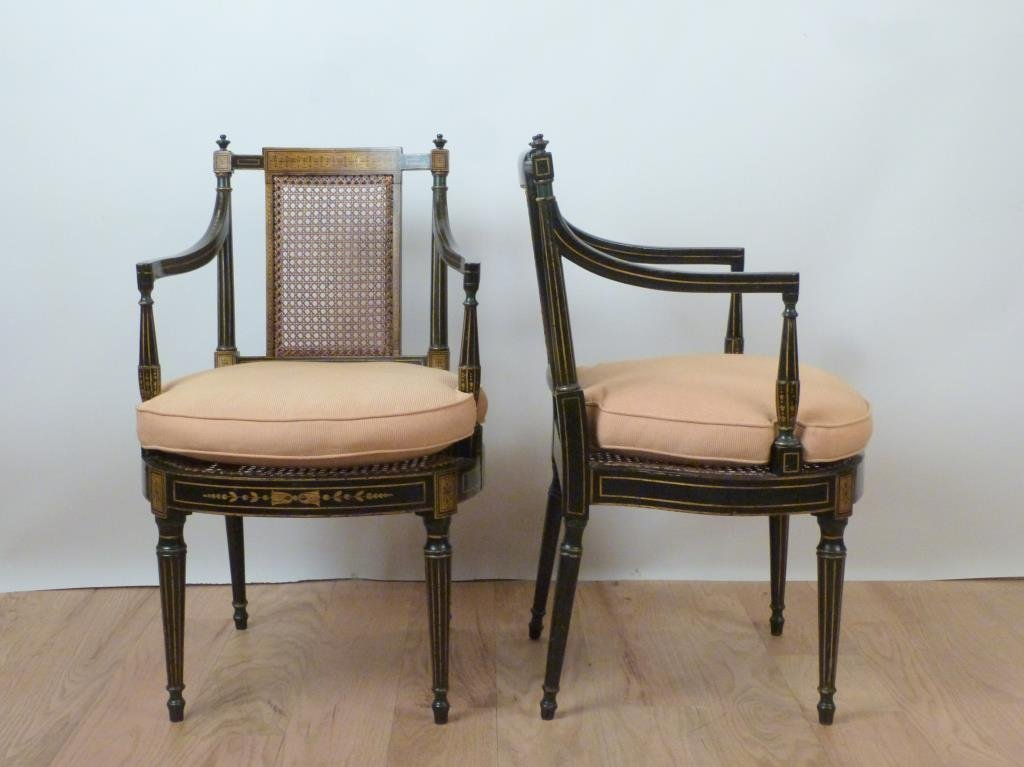 Pair Howard & Sons 19th Century Arm Chairs - 2