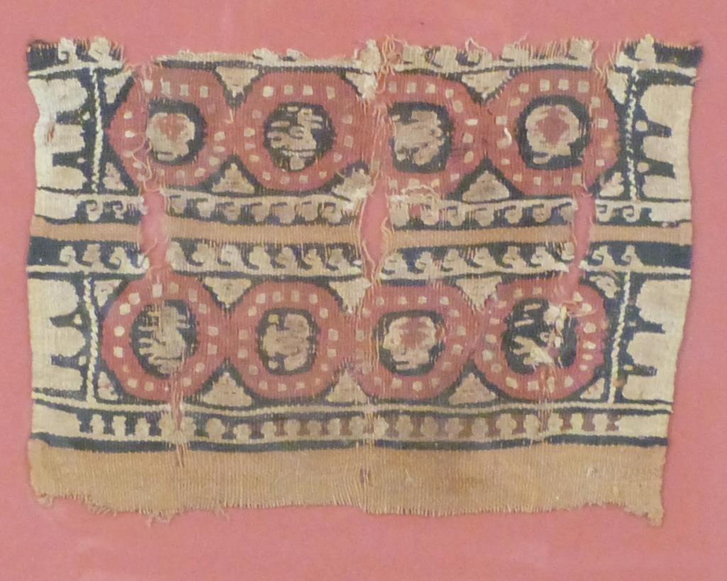 3 Framed Coptic Textile Fragments - 2