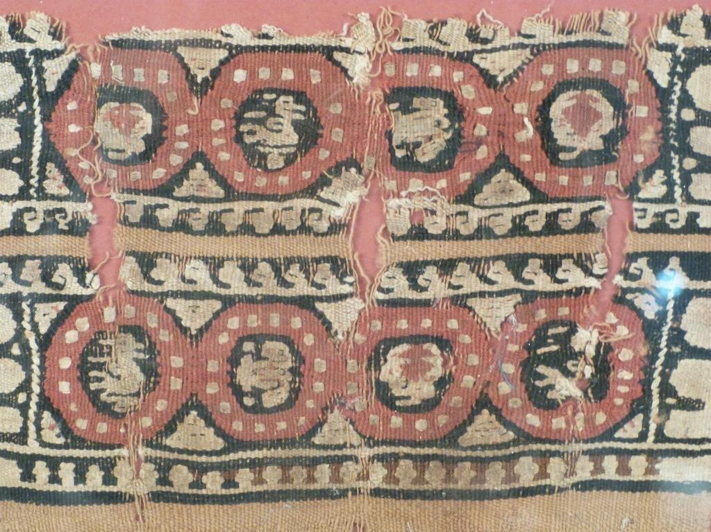3 Framed Coptic Textile Fragments - 3