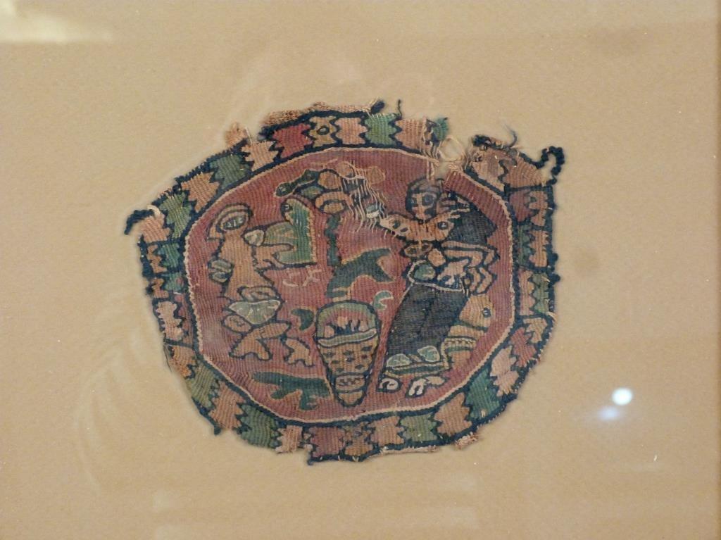 3 Framed Coptic Textile Fragments - 6