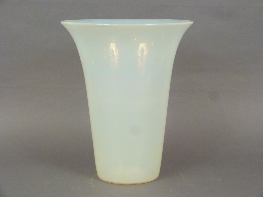 Venini Style Flared Glass Vase