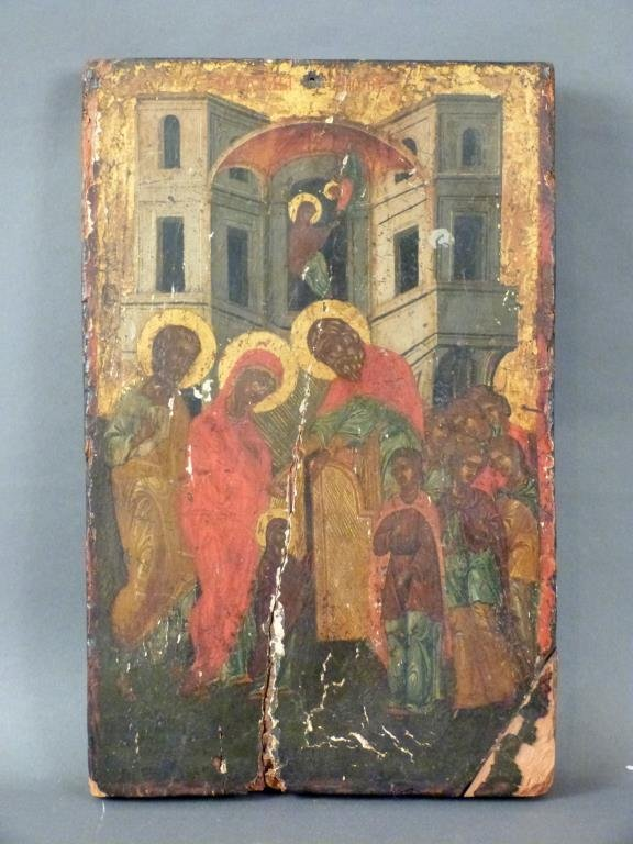 Antique Greek Painted Icon (As Is)