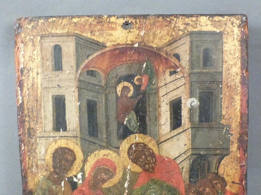 Antique Greek Painted Icon (As Is) - 2