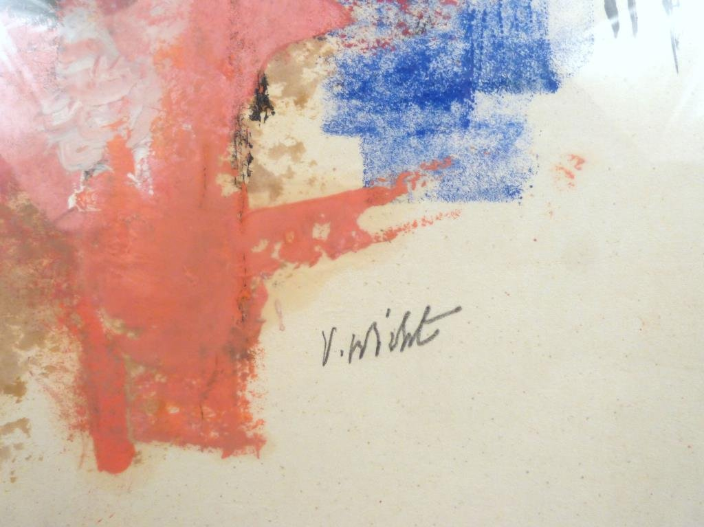 Signed Illegibly - Mixed Media on Paper - 5