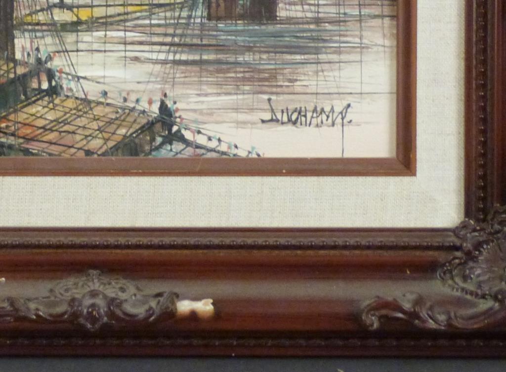 Signed Duchamp - Oil on Board - 2
