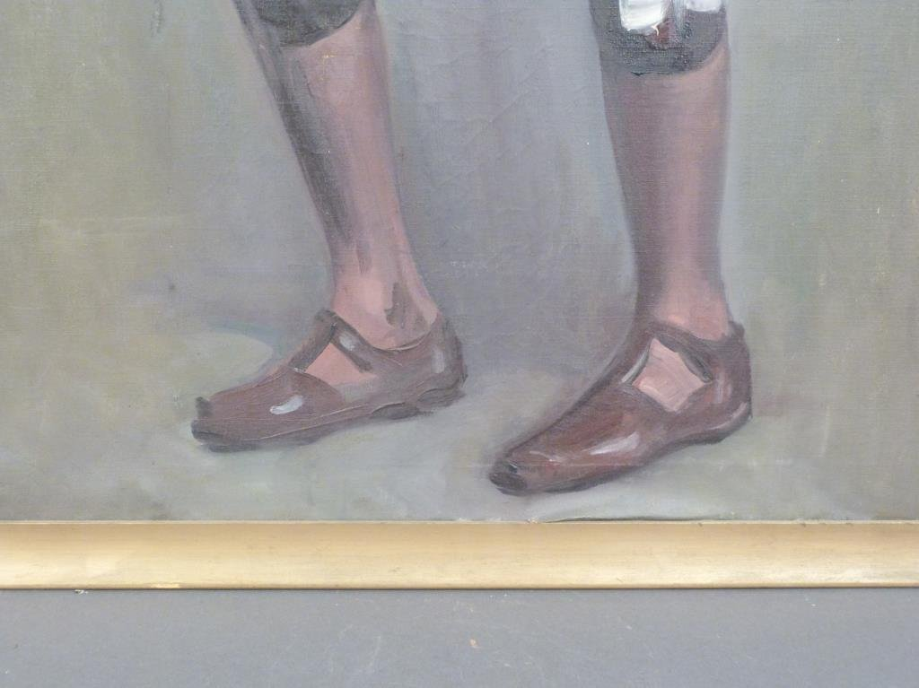 Oil on Canvas -  Portrait of a Young Mr. DePaul - 6
