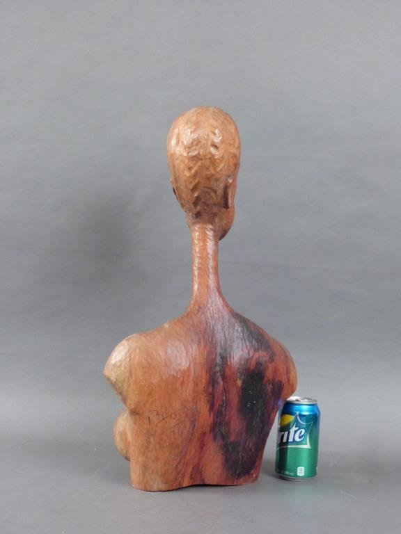 Signed African Bust of Nude Female - 2