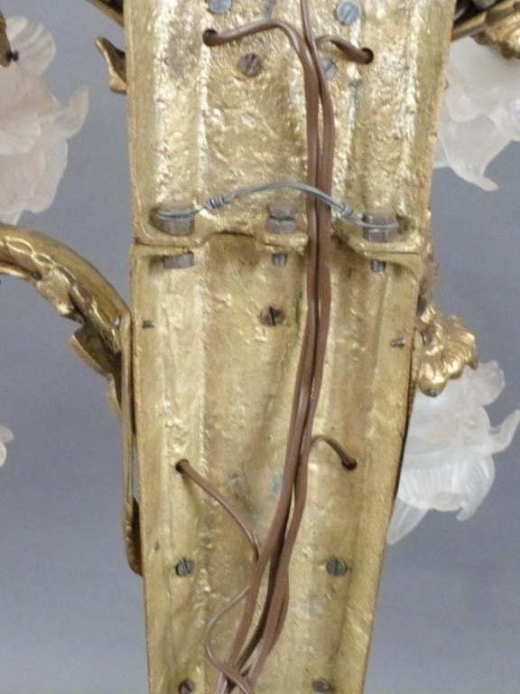 Pair Large Bronze 5 Arm Sconces - 8