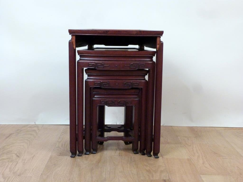 Nest of 4 Chinese Tables - 2