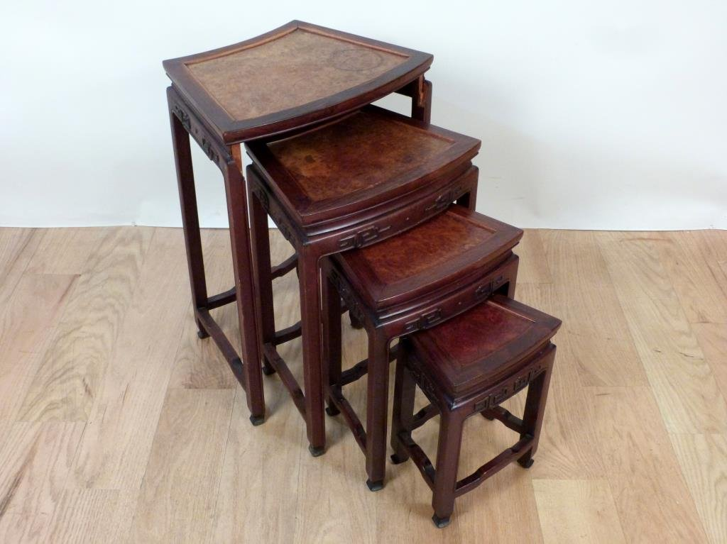 Nest of 4 Chinese Tables - 3