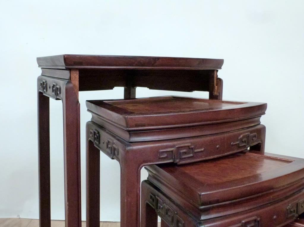 Nest of 4 Chinese Tables - 5