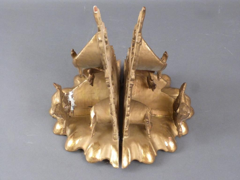 Pair Gilt Carved Rococo Brackets - 6