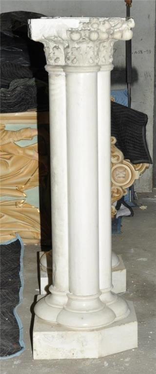 Pair Large Carrera Quad Column Pedestals *** - 2