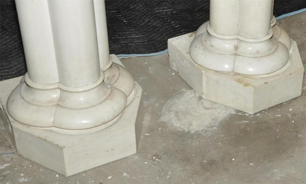 Pair Large Carrera Quad Column Pedestals *** - 5