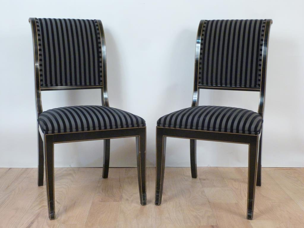 Pair Hollywood Regency Side Chairs