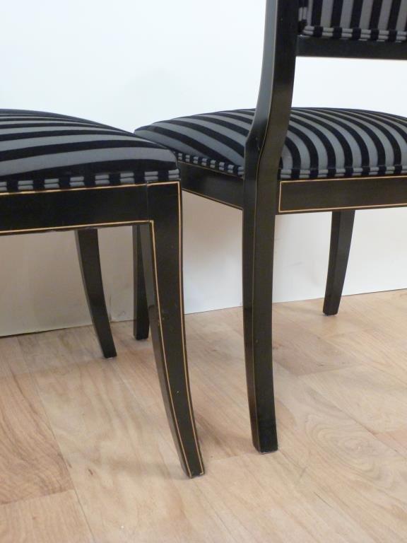 Pair Hollywood Regency Side Chairs - 3