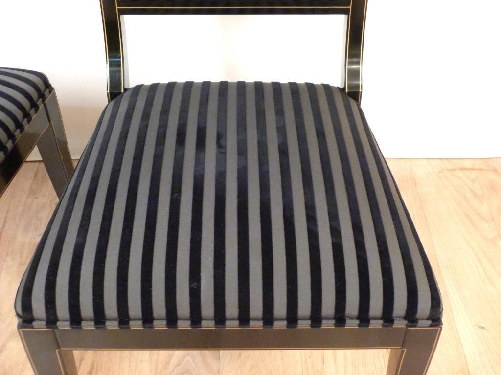 Pair Hollywood Regency Side Chairs - 4