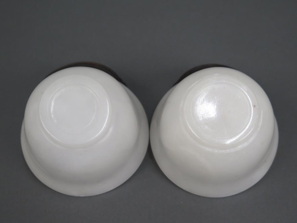 Pair White Stone Bowls - 3