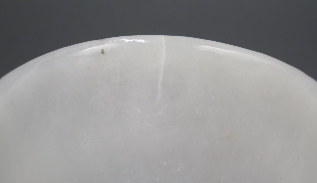 Pair White Stone Bowls - 4