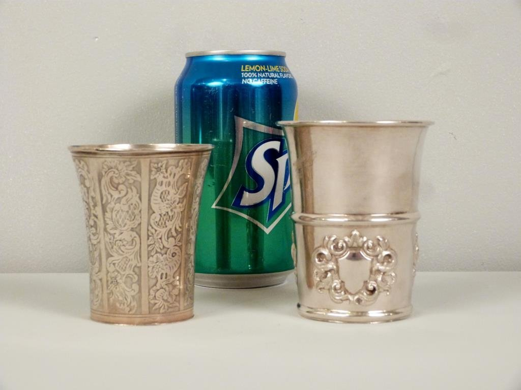 2 Continental Silver Beakers - 2