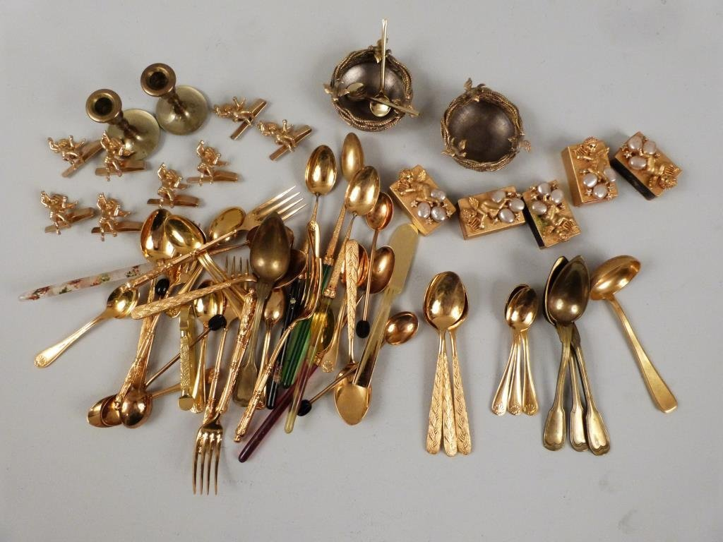 Assorted Gilt Plated Articles