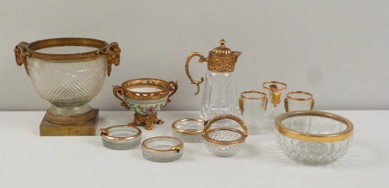 Assorted Gilt Metal Mounted Articles