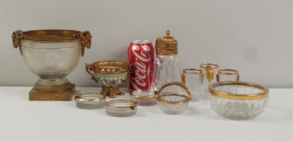 Assorted Gilt Metal Mounted Articles - 7