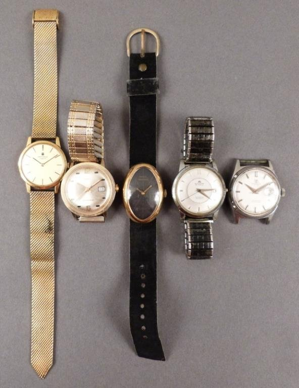5 Men's Wrist Watches (as is)
